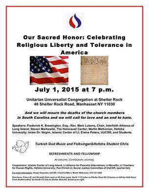 Celebrating Religious Liberty Event